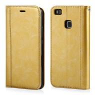 Custodia per Huawei P8 Lite 2017 portefoglio-libro Elegance Cover in TPU colore Oro