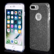 Cover custodia per iPhone 7-8 Plus in TPU Back Case BLINK Brillantini GLITTER Nero