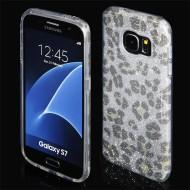 Cover custodia per Samsung S7 G930 in TPU Back Case BLINK Brillantini GLITTER Oro