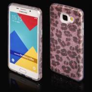 Cover custodia per Samsung A5 2016 in TPU Back Case BLINK Brillantini GLITTER Rosa Panterato