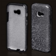 Cover custodia per Samsung A5 2017 in TPU Back Case BLINK Brillantini GLITTER Nero