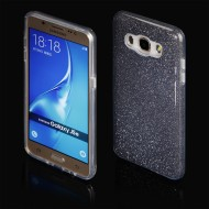 Cover custodia per Samsung J5 2016 in TPU Back Case BLINK Brillantini GLITTER Nero