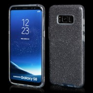 Cover custodia per Samsung S8 Plus G955 in TPU Back Case BLINK Brillantini GLITTER Nero