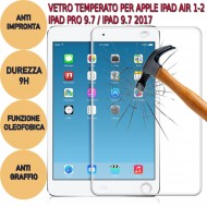 Pellicola Vetro temperato 9H PRO + iPad Air 1-2 / iPad Pro 9.7 / iPad 9.7 2017