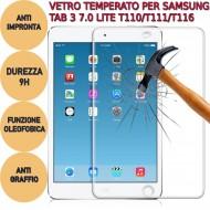 Pellicola proteggi display vetro temperato Samsung Tab 3 7.0 Lite T110 T111 T116