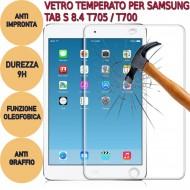 Pellicola proteggi display vetro temperato Samsung Galaxy Tab S 8.4 T705 / T700