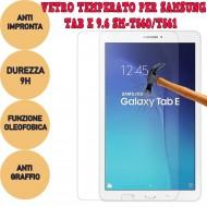 Pellicola proteggi display vetro temperato Samsung Galaxy Tab E 9.6 SM-T560 T561