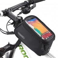 """Borsa per bicicletta Roswheel con supporto per telefono per smartphone da 5,5 """" NERO"""
