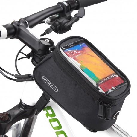 """Borsa per bicicletta Roswheel con supporto per telefono per smartphone da 4,8 """" NERO"""