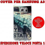 Cover Back case in silicone per samsung  A3 (A300) con auto vintage