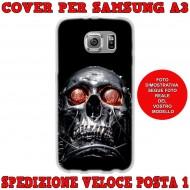 Cover Back case in silicone per samsung  A3 (A300) con techio occhi rossi
