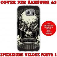 Cover Back case in silicone per samsung  A3 (A300) con teschio in auto