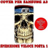 Cover Back case in silicone per samsung  A3 (A300) con Teschio con bandana
