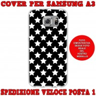 Cover Back case in silicone per samsung  A3 (A300) con stelline