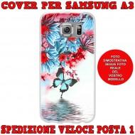 Cover Back case in silicone per samsung  A3 (A300) con farfalle