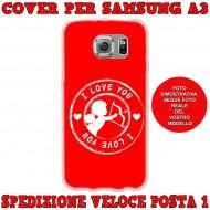 Cover Back case in silicone per samsung  A3 (A300) con cupido ( i love you )