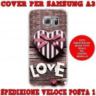 Cover Back case in silicone per samsung  A3 (A300) con love con cuore