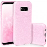 Cover custodia per Samsung S8 Plus G955 in TPU Back Case BLINK Brillantini GLITTER Rosa