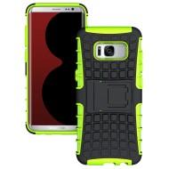 Custodia per Samsung S8 cover robusta Armor Kickstand colore Verde
