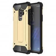 Custodia Hybrid Armour TPU+PC Cover robusta e resistente per Samsung S9 Plus (G965) Colore Oro