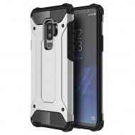 Custodia Hybrid Armour TPU+PC Cover robusta e resistente per Samsung S9 Plus (G965) Colore Argento