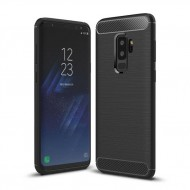 Custodia Cover tpu paraurti modello Carbon Case per Samsung S9 PLUS G965 NERO