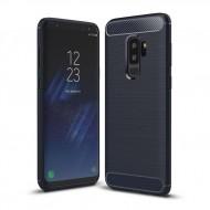 Custodia Cover tpu paraurti modello Carbon Case per Samsung S9 PLUS G965 BLU