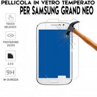 Pellicola per Samsung GRAND NEO Antiurto Vetro Temperato Proteggi Schermo