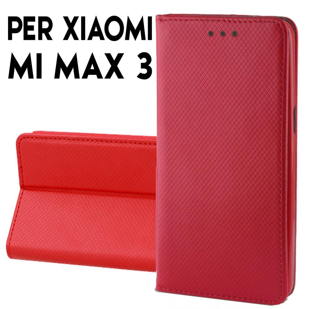 Custodia XIAOMI MI MAX 3 Flip Cover Libro Finestra Chiusura Magnetica