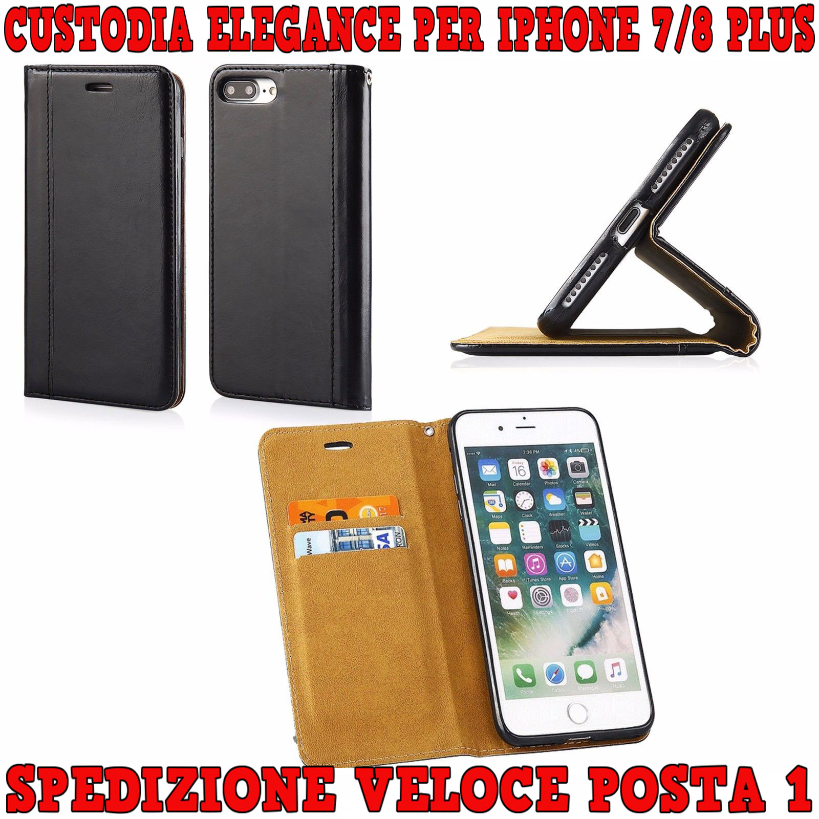 custodia iphone 7 ecopelle