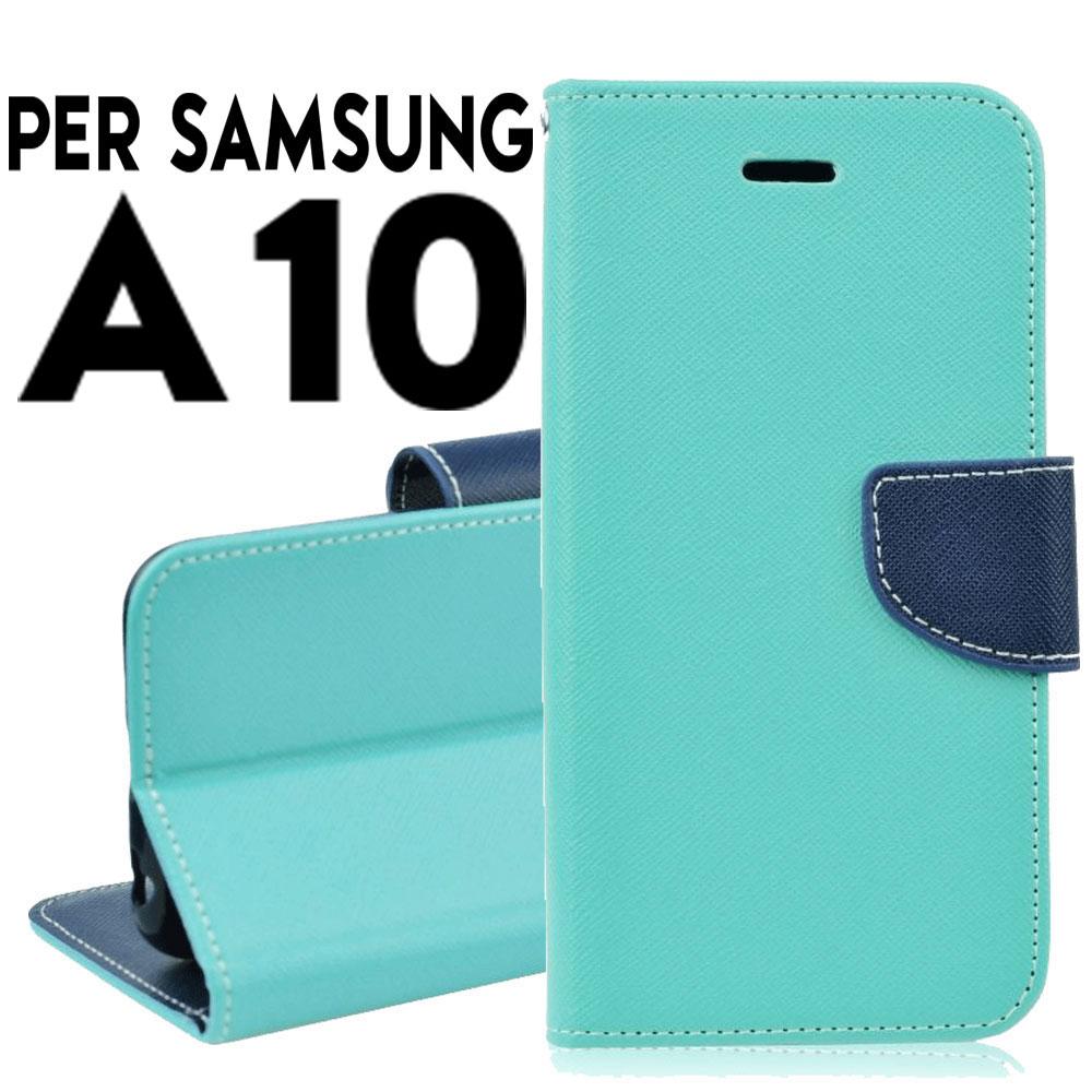 Custodia per Samsung A10 2019 cover tpu a portafoglio libro chiusura magnetica